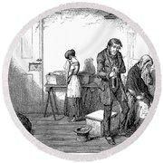 Temperance Movement, 1847 Round Beach Towel