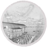 Tenby Lifeboat Station Round Beach Towel