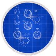 Tennis Ball Patent 1914 - Blue Round Beach Towel