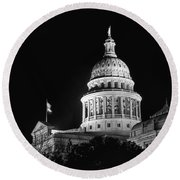 Texas State Capitol 2 Round Beach Towel
