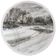 Thames River  Round Beach Towel