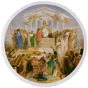 The Age Of Augustus The Birth Of Christ Round Beach Towel