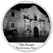 The Alamo Round Beach Towel
