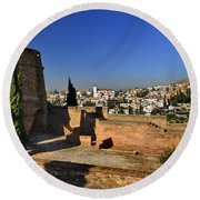 The Alhambra Palace Cubo Tower Round Beach Towel