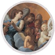 The Assumption Of The Virgin Mary Round Beach Towel