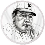 The Babe Round Beach Towel