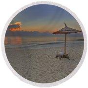 The Beach Round Beach Towel