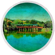 The Bridge 13 Round Beach Towel
