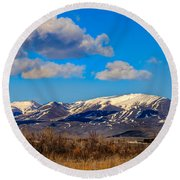 The Butte Round Beach Towel
