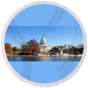 The Capitol Round Beach Towel