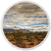 The Desert Southwest  Round Beach Towel