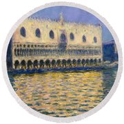 The Doges Palace Round Beach Towel