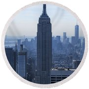 The Empire State Building Round Beach Towel