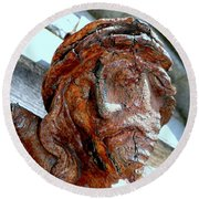 The Face Of Christ Round Beach Towel