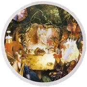 The Fairies Banquet Round Beach Towel by John Anster Fitzgerald