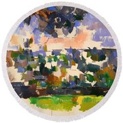 The Garden At Les Lauves Round Beach Towel