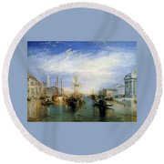The Grand Canal Round Beach Towel