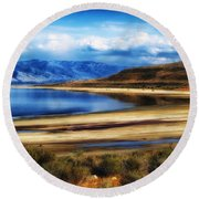 The Great Salt Lake Round Beach Towel