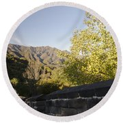 The Great Wall 1064 Round Beach Towel