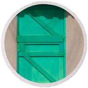 The Green Door Round Beach Towel