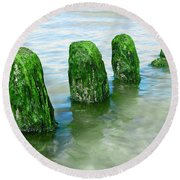 The Green Jetty Round Beach Towel