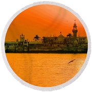 The Haji Ali Dargah Round Beach Towel