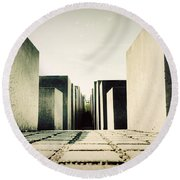 The Holocaust Memorial Berlin Germany Round Beach Towel
