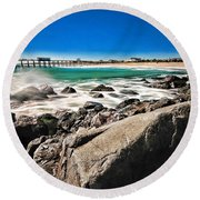 The Jersey Shore Round Beach Towel