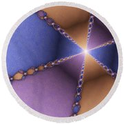 The Journey To The Light Round Beach Towel