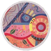 The Joy Of Design X V I I I Part 2 Round Beach Towel