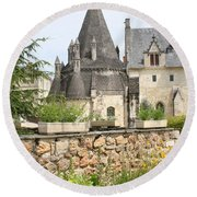 The Kitchenbuilding Of Abbey Fontevraud Round Beach Towel