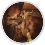 The Lament For Icarus Round Beach Towel