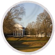 The Lawn University Of Virginia Round Beach Towel