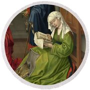 The Magdalen Reading Round Beach Towel