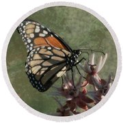 The Monarch Painterly Round Beach Towel
