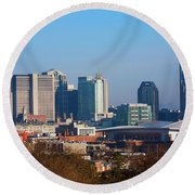 The Nashville Skyline As Viewed Round Beach Towel