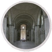 The Nave - Cloister Fontevraud Round Beach Towel