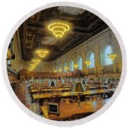 The New York Public Library Round Beach Towel