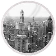 The Ny Financial District Round Beach Towel