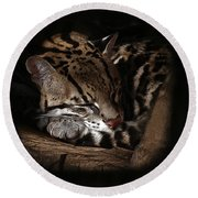 The Ocelot Round Beach Towel