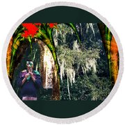The Other Forest Round Beach Towel by Lisa Yount