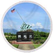 The Pacific War Memorial On Marine Round Beach Towel