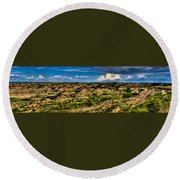 The Painted Hills Round Beach Towel