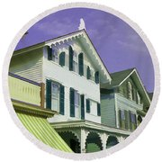 The Painted Ladies Of Cape May Round Beach Towel