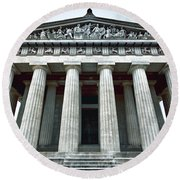 The Parthenon Round Beach Towel