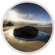The Rock Round Beach Towel by Debra and Dave Vanderlaan