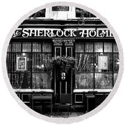 The Sherlock Holmes Pub Round Beach Towel