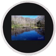 River - Reflection Round Beach Towel