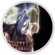 The Skull And Paranasal Sinuses Round Beach Towel