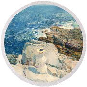The South Ledges Appledore Round Beach Towel